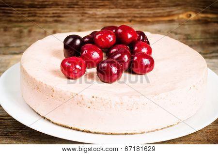 Chocolate-cherry Cheesecake