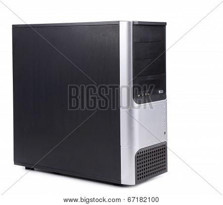Black computer case.