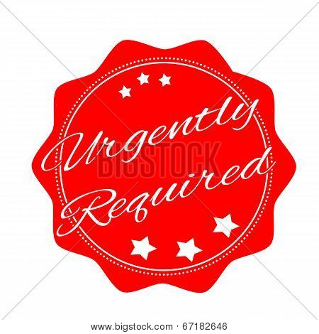 Urgently Required Stamp