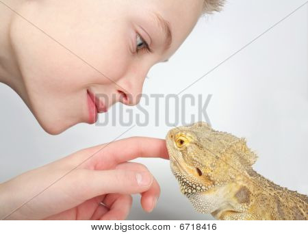 Boy and Lizard