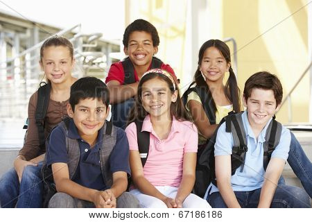 Pre teen children in school