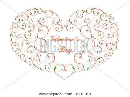 Stylized Valentine's Day heart