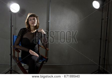 Actress or Model with Copyspace