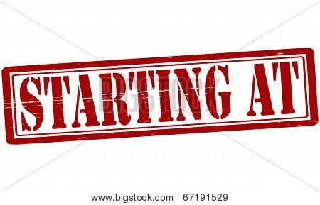 Starting At