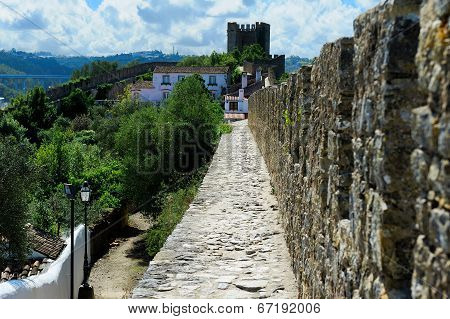Old Castle Wall, Obidos, Portugal