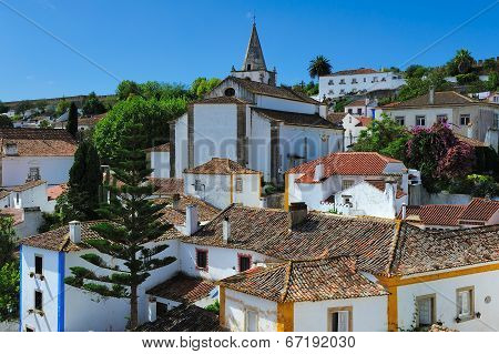 View Of Obidos, Portugal
