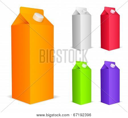 Color juice packs.