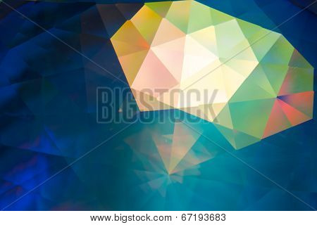 abstract crystal refractions background