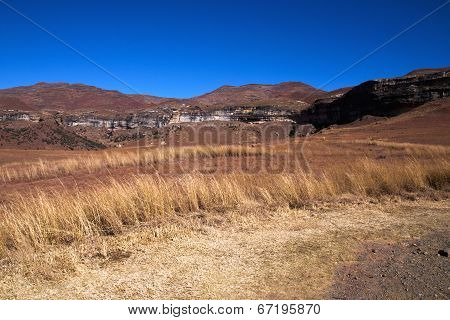 Winter Landscape And Mountains In Orange Free State, South Africa