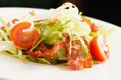 picture of rocket salad  - salad with bacon - JPG