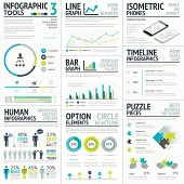 stock photo of graphs  - Business and human vector infographic element big set collection - JPG