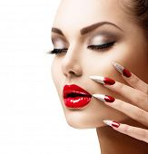picture of nail  - Fashion Beauty Model Girl - JPG