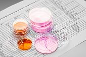 image of microbiology  - Petri dish for chemical and microbiological analysis - JPG