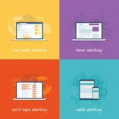 stock photo of cpa  - Flat web design icons for internet marketing concepts - JPG