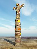 image of totem pole  - Computer generated 3D illustration with a Totem Pole - JPG