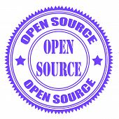 stock photo of open-source  - open source grunge stamp with on vector illustration - JPG