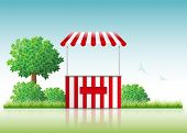 image of stall  - Vector illustration of a stall in nature - JPG