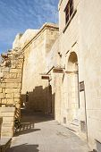 image of gozo  - Medieval street in old part of Vicotria city Gozo island Malta - JPG
