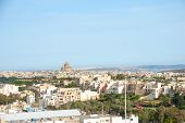 stock photo of gozo  - View over Victoria Rabat biggest city of Gozo island Malta - JPG