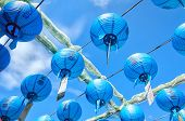 picture of grotto  - Paper lanterns hang at Seokguram Grotto in Gyeongju South Korea - JPG