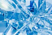 stock photo of refraction  - abstract blue background of crystal refractions - JPG