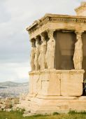 foto of akropolis  - Caryatid Porch of Erechtheum at Akropolis - JPG