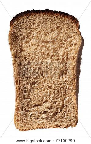 A Dried Piece Of White Bread