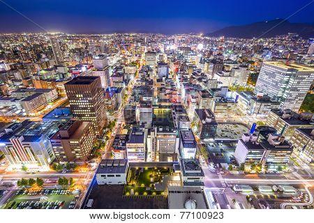 Sapporo, Hokkaido, Japan cityscape in the Chuo Central Ward.