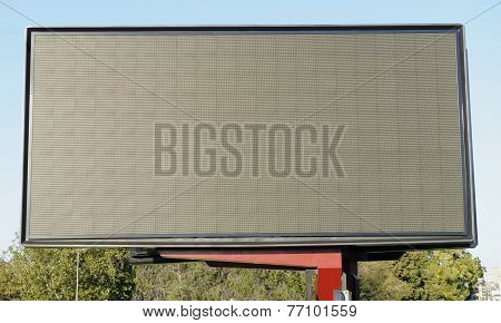 Blank billboard screen