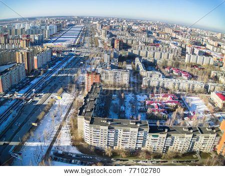 Residential district on Shirotnaya street. Tyumen
