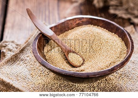 Amaranth On Wooden Background