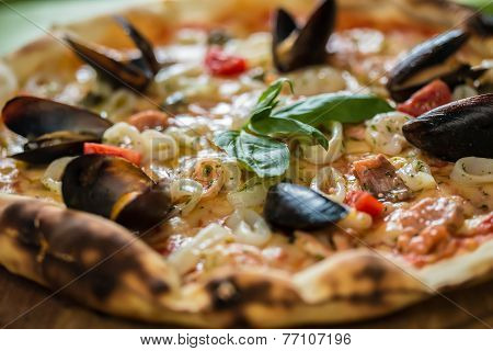 Traditional Italian Seafood Pizza