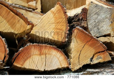 colorful stacked logs