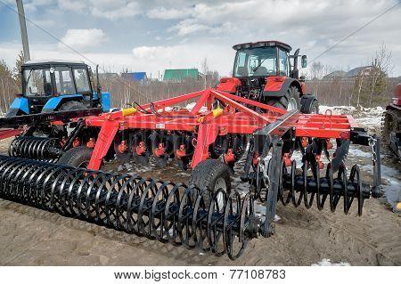 Hinged equipment for tractor. Tyumen. Russia