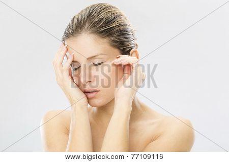 Beauty portrait of tended woman