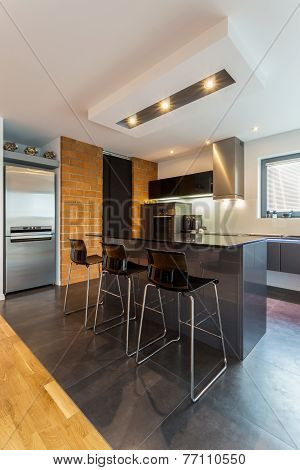 Kitchen Island In Modern Interior