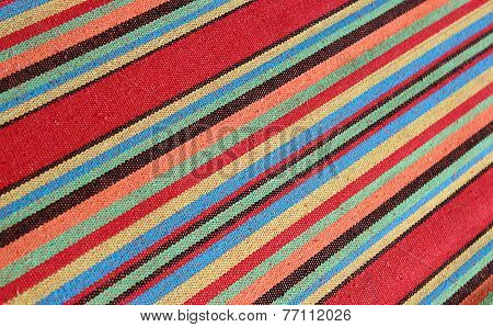 Colorful Vintage Mexican Textile Background With Diagonal Stripey Pattern