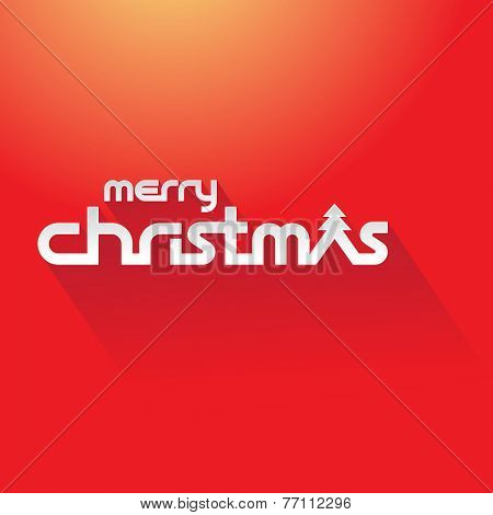 Stock Illustration of Merry Christmas Text on a red background