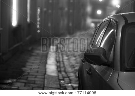 Car In Small Street