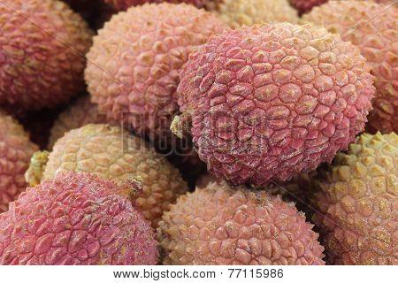 background of fresh lychee fruit