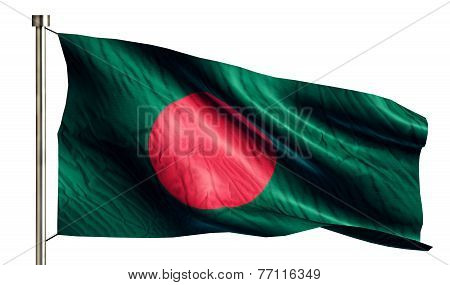 Bangladesh National Flag Isolated 3D White Background