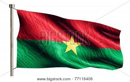 Burkina Faso National Flag Isolated 3D White Background