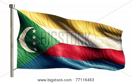 Comoros National Flag Isolated 3D White Background