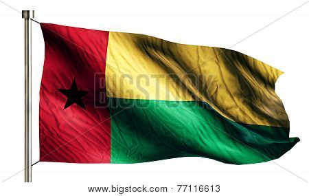Guinea Bissau National Flag Isolated 3D White Background
