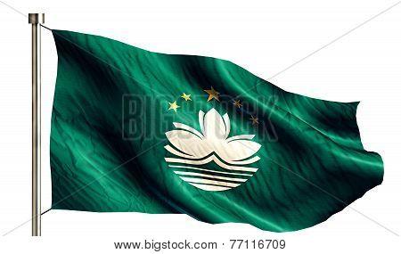 Macau National Flag Isolated 3D White Background