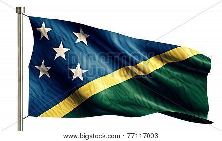 Solomon Islands National Flag Isolated 3D White Background