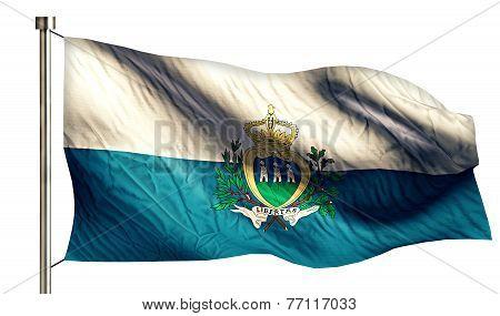 San Marino National Flag Isolated 3D White Background