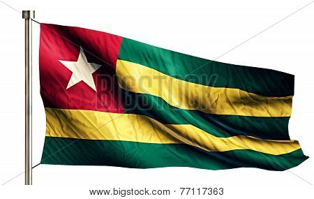 Togo National Flag Isolated 3D White Background