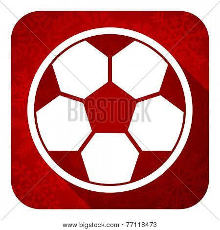 soccer flat icon, christmas button, football sign