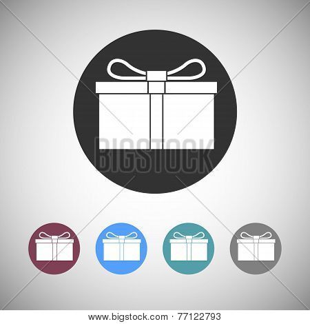 Gift box flat icons.
